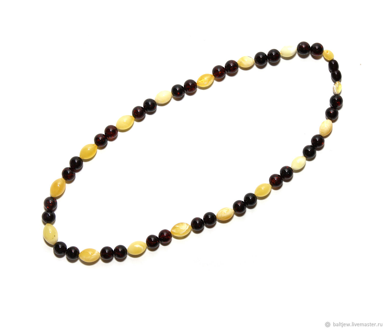 Amber beads 'Cognac with Royal amber' 52 cm, Beads2, Moscow,  Фото №1