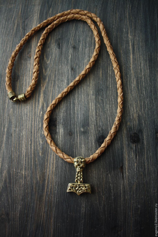 Men's pendant ,Thor's Hammer pendant on the neck, Ring, Volgograd,  Фото №1