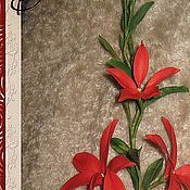 Цветы и флористика ручной работы. Ярмарка Мастеров - ручная работа Ветка Квисквалиса. Handmade.
