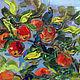 Абстракция ручной работы. Ярмарка Мастеров - ручная работа. Купить Картина маслом Наливные яблочки. Handmade. Разноцветный, красный, лето