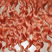 Материалы для творчества handmade. Livemaster - original item Hair for dolls (light copper) Curls Curls for dolls. Handmade.