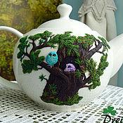 """Посуда ручной работы. Ярмарка Мастеров - ручная работа Чайный сервиз """"Совиное гнездо"""". Handmade."""