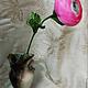 """Цветы ручной работы. Ярмарка Мастеров - ручная работа. Купить Интерьерный цветок """"Ранункулюс"""". Handmade. Розовый, цветы из шелка"""