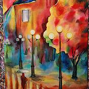 Картины и панно ручной работы. Ярмарка Мастеров - ручная работа Осень в парке. Handmade.