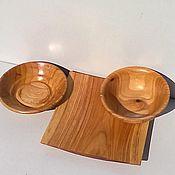 Посуда ручной работы. Ярмарка Мастеров - ручная работа Набор для суши из дерева ( 3 предмета). Handmade.