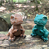 Косметика ручной работы handmade. Livemaster - original item Gift volumetric Tyrannosaurus soap. Handmade.