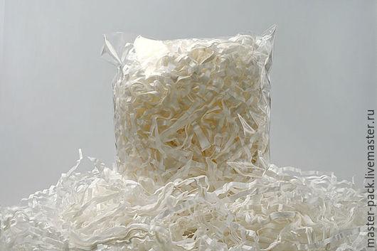 Упаковка ручной работы. Ярмарка Мастеров - ручная работа. Купить Бумажный наполнитель, белый, 50 грамм. Handmade. Наполнитель