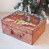 Сувениры и подарки handmade. Livemaster - original item Suitcase Moscow for Christmas toys .. Handmade.