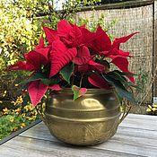 Винтаж handmade. Livemaster - original item Vintage brass planter, hand made, art Nouveau, Holland.. Handmade.