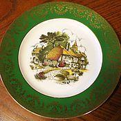 Винтаж handmade. Livemaster - original item Beautiful porcelain plate