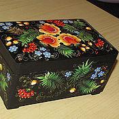 Для дома и интерьера ручной работы. Ярмарка Мастеров - ручная работа Шкатулка «Яркие цветы». Handmade.