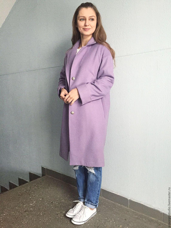 3ff6bfa4953 Ярмарка Мастеров - ручная работа. Купить Демисезонное пальто цвета сирени · Верхняя  одежда ручной работы. Демисезонное пальто цвета сирени.