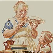 """Материалы для творчества ручной работы. Ярмарка Мастеров - ручная работа Схема для вышивки """"Бабушкин пирог"""". Handmade."""