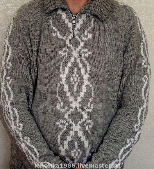 Для мужчин, ручной работы. Ярмарка Мастеров - ручная работа. Купить Мужской свитер. Handmade. Подарок мужчине, свитер мужской