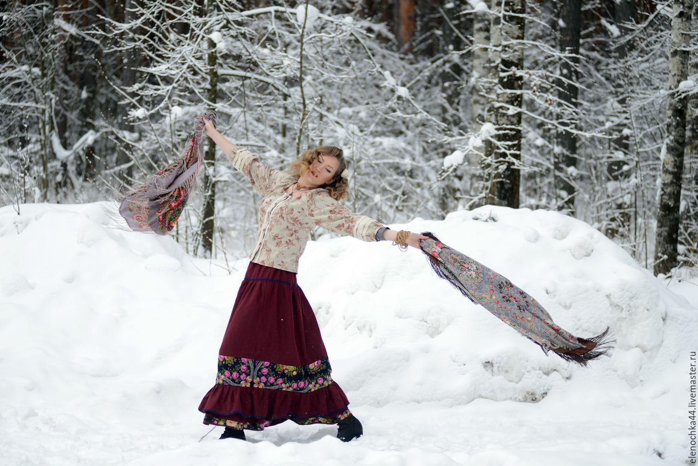 зимняя одежда в стиле бохо