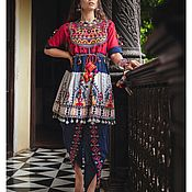 Одежда handmade. Livemaster - original item Embroidered Suit tunic and trousers. Handmade.