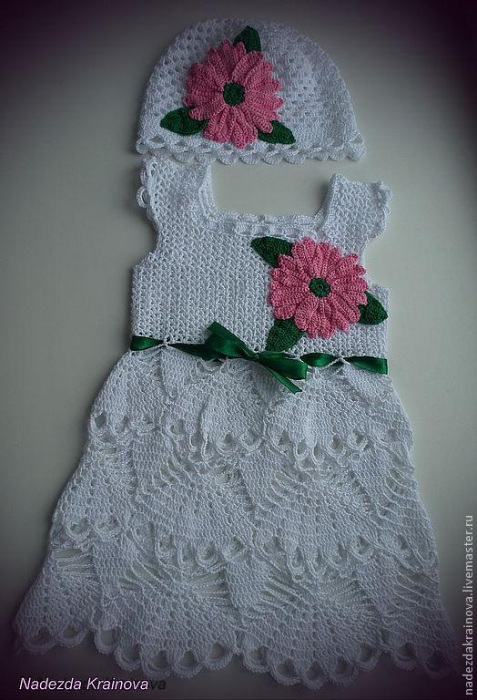 Одежда для девочек, ручной работы. Ярмарка Мастеров - ручная работа. Купить Детский комплект. Handmade. Белый, белое платье