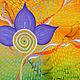 Абстракция ручной работы. Ярмарка Мастеров - ручная работа. Купить Точка цветения. Handmade. Комбинированный, яркий, цветы, абстрактный, оранжевый