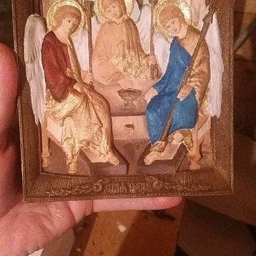 Картины и панно ручной работы. Ярмарка Мастеров - ручная работа Икона Светая Троица. Handmade.