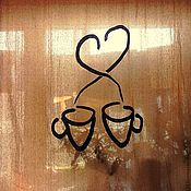 """Для дома и интерьера ручной работы. Ярмарка Мастеров - ручная работа Штора """"Для влюбленных в кофе..."""". Handmade."""