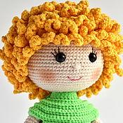 Куклы и пупсы ручной работы. Ярмарка Мастеров - ручная работа Вязаная кукла с кудряшками. Handmade.