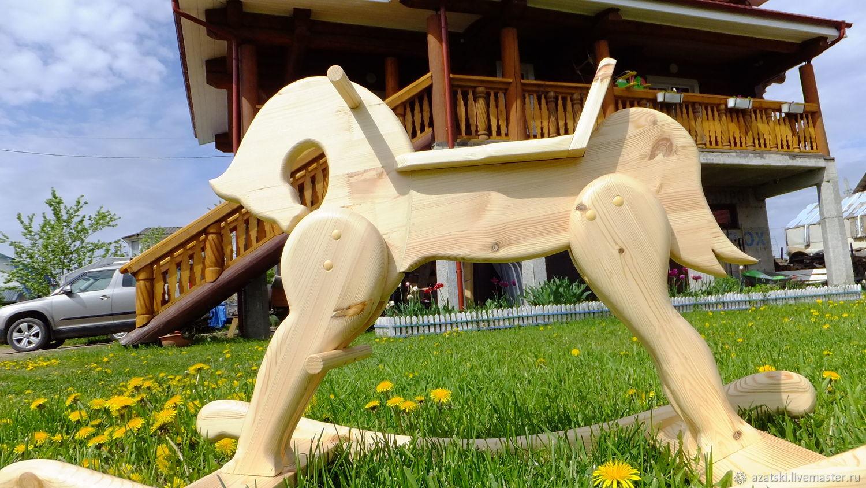 Деревянная лошадка качалка, Игрушки-каталки, Санкт-Петербург,  Фото №1