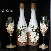 Свадебный салон ручной работы. Ярмарка Мастеров - ручная работа Свадебный набор в рустикальном стиле. Handmade.