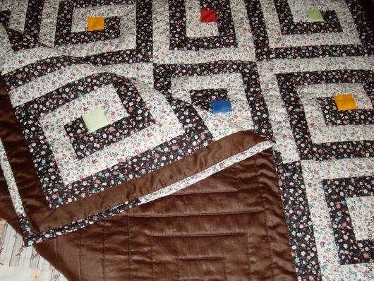 """Текстиль, ковры ручной работы. Ярмарка Мастеров - ручная работа. Купить Одеяло """"Лабиринт"""". Handmade. Плед, лоскутное покрывало, синтепон"""