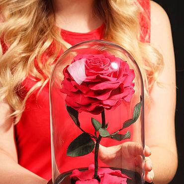 Цветы и флористика ручной работы. Ярмарка Мастеров - ручная работа Королевская роза в колбе из полимерной глины. Handmade.