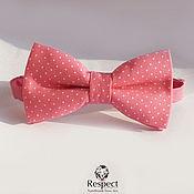 handmade. Livemaster - original item Tie Crimson ring / crimson butterfly tie polka dot. Handmade.
