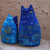 """Куклы и игрушки ручной работы. Ярмарка Мастеров - ручная работа Окарины """"Городские коты"""". Handmade."""