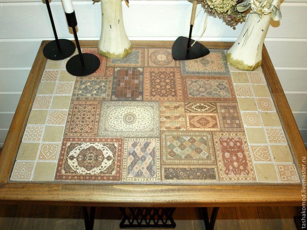 Плитка на кухонный стол своими руками 4