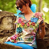 Одежда ручной работы. Ярмарка Мастеров - ручная работа Блузка Девушка-киви. Handmade.