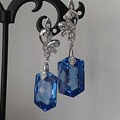 Украшения ручной работы. Ярмарка Мастеров - ручная работа Серьги London blue, голубой топаз 35,45 карат. Handmade.