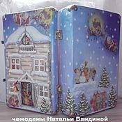 Сувениры и подарки handmade. Livemaster - original item Suitcase-Cabin Christmas. Handmade.