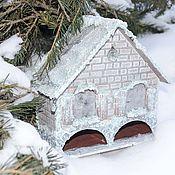 Для дома и интерьера ручной работы. Ярмарка Мастеров - ручная работа Чайный домик Зимняя сказка двойной. Handmade.