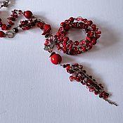 Украшения handmade. Livemaster - original item Natural stone jewelry: red beads and boho bracelet jewelry. Handmade.