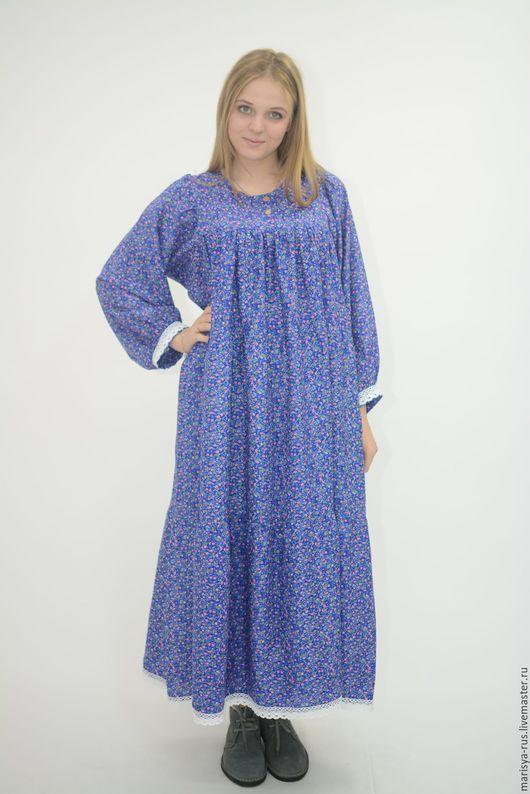 """Одежда ручной работы. Ярмарка Мастеров - ручная работа. Купить Платье """"Лада"""". Handmade. Голубой, штапель"""