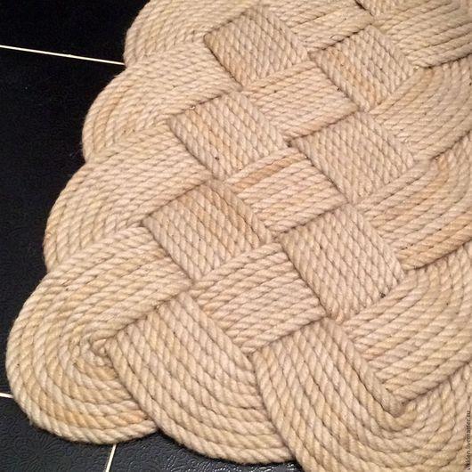 Текстиль, ковры ручной работы. Ярмарка Мастеров - ручная работа. Купить Ковер из джута. Handmade. Бежевый, коврик ручной работы