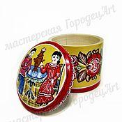 """Посуда handmade. Livemaster - original item Шкатулка """"Чаепитие"""" (городецкая роспись). Handmade."""