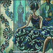 Картины и панно ручной работы. Ярмарка Мастеров - ручная работа Эффектные женщины в роскошных местах (Лондон). Handmade.