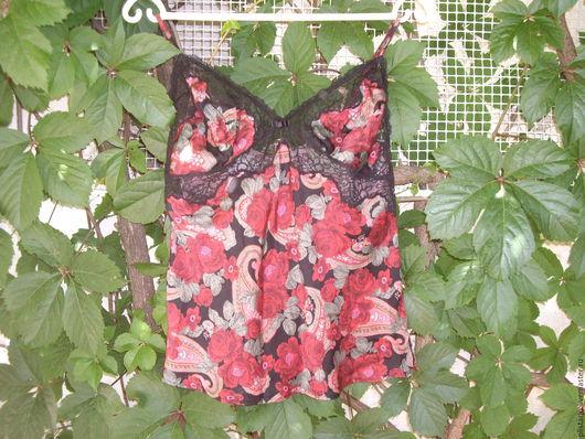 Одежда. Ярмарка Мастеров - ручная работа. Купить шелковая майка-топ Kenzo,оригинал,винтаж. Handmade. Бордовый, кензо