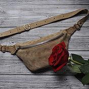 Поясная сумка ручной работы. Ярмарка Мастеров - ручная работа Поясная сумка из натуральной замши. Handmade.