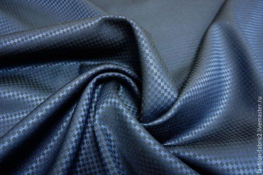 Шитье ручной работы. Ярмарка Мастеров - ручная работа. Купить Костюмная шерсть с шелком темно-синяя LUX PRT 7281655 Цена за метр. Handmade.