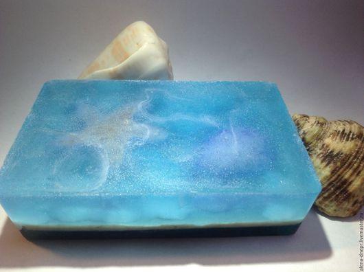 Мыло ручной работы. Ярмарка Мастеров - ручная работа. Купить Мыло Морские глубины. Handmade. Голубой, море, ракушка