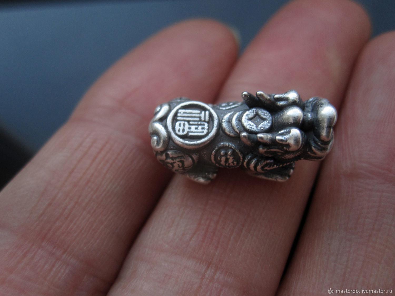 ЧЁРНЫЙ PI YAO II бусина серебро 999 пробы, Бусины, Королев,  Фото №1