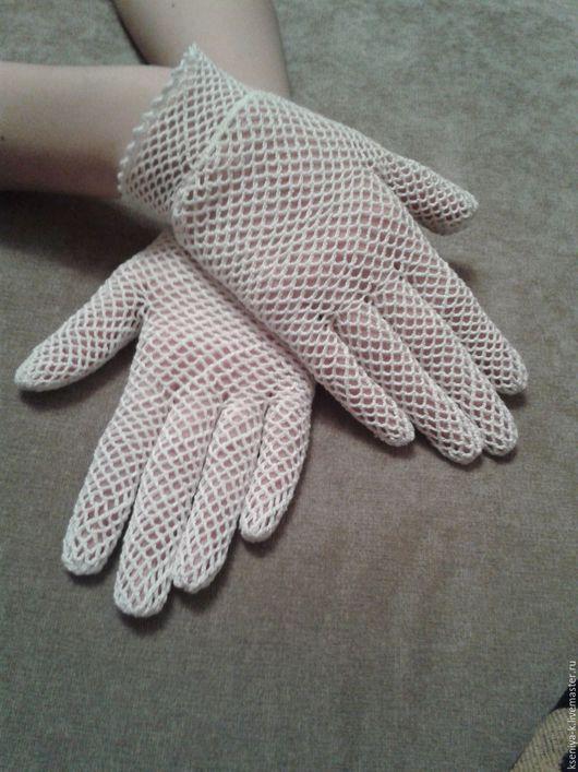Варежки, митенки, перчатки ручной работы. Ярмарка Мастеров - ручная работа. Купить Белые перчатки. Handmade. Белый, перчатки кружевные