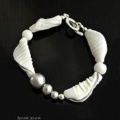 Украшения handmade. Livemaster - original item Bracelet from Legato series with cotton pearls. Handmade.
