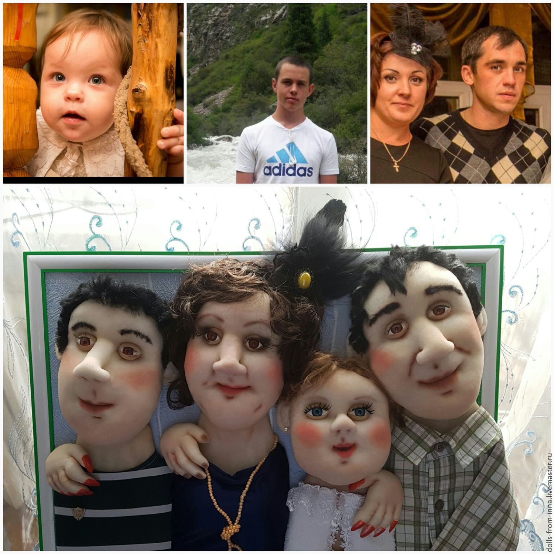 Портретные куклы в рамке