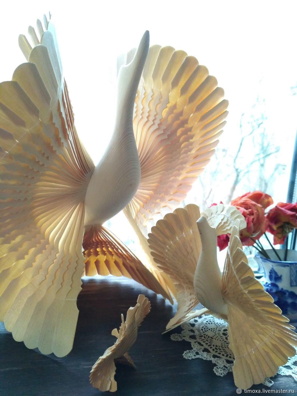 Птица счастья Поморская голубка щепная птица оберег, Народные сувениры, Москва,  Фото №1
